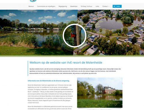 VvE Resort de Molenheide is voortaan ook online te vinden